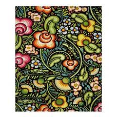 Bohemia Floral Pattern Shower Curtain 60  X 72  (medium)