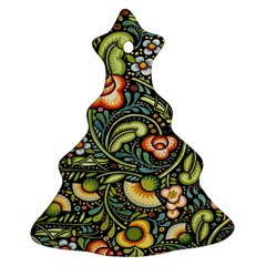 Bohemia Floral Pattern Christmas Tree Ornament (two Sides)