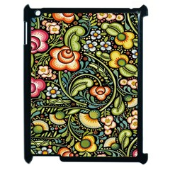 Bohemia Floral Pattern Apple Ipad 2 Case (black) by BangZart