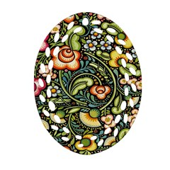 Bohemia Floral Pattern Ornament (oval Filigree) by BangZart