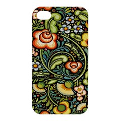 Bohemia Floral Pattern Apple Iphone 4/4s Premium Hardshell Case by BangZart