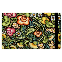 Bohemia Floral Pattern Apple Ipad 3/4 Flip Case by BangZart
