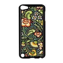 Bohemia Floral Pattern Apple Ipod Touch 5 Case (black)