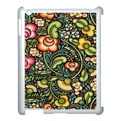 Bohemia Floral Pattern Apple Ipad 3/4 Case (white) by BangZart