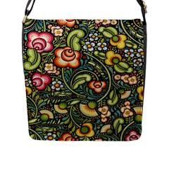 Bohemia Floral Pattern Flap Messenger Bag (l)  by BangZart