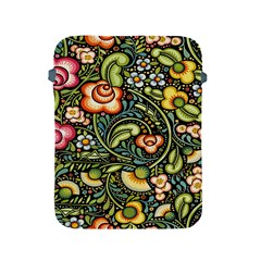 Bohemia Floral Pattern Apple Ipad 2/3/4 Protective Soft Cases by BangZart