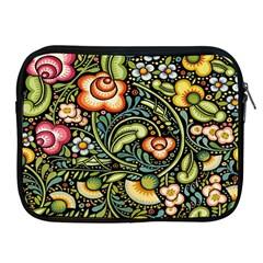 Bohemia Floral Pattern Apple Ipad 2/3/4 Zipper Cases by BangZart