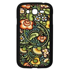 Bohemia Floral Pattern Samsung Galaxy Grand Duos I9082 Case (black)