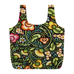 Bohemia Floral Pattern Full Print Recycle Bags (l)  by BangZart