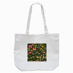 Bohemia Floral Pattern Tote Bag (white) by BangZart