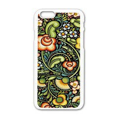 Bohemia Floral Pattern Apple Iphone 6/6s White Enamel Case by BangZart