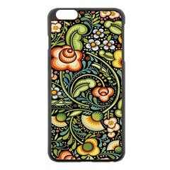 Bohemia Floral Pattern Apple Iphone 6 Plus/6s Plus Black Enamel Case by BangZart