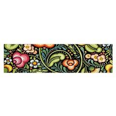 Bohemia Floral Pattern Satin Scarf (oblong)