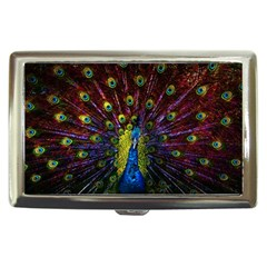 Beautiful Peacock Feather Cigarette Money Cases by BangZart
