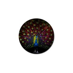 Beautiful Peacock Feather Golf Ball Marker (4 Pack) by BangZart