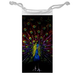 Beautiful Peacock Feather Jewelry Bag