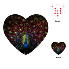 Beautiful Peacock Feather Playing Cards (heart)