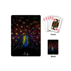 Beautiful Peacock Feather Playing Cards (mini)