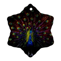 Beautiful Peacock Feather Ornament (snowflake)