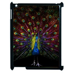 Beautiful Peacock Feather Apple Ipad 2 Case (black) by BangZart