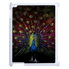 Beautiful Peacock Feather Apple Ipad 2 Case (white) by BangZart