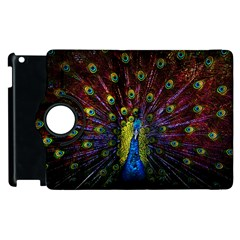 Beautiful Peacock Feather Apple Ipad 3/4 Flip 360 Case by BangZart