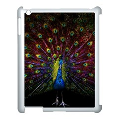 Beautiful Peacock Feather Apple Ipad 3/4 Case (white) by BangZart