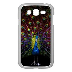 Beautiful Peacock Feather Samsung Galaxy Grand Duos I9082 Case (white) by BangZart