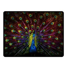 Beautiful Peacock Feather Double Sided Fleece Blanket (small)  by BangZart