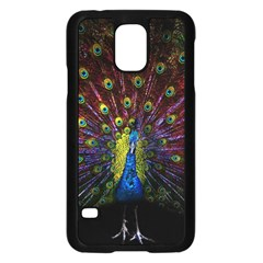 Beautiful Peacock Feather Samsung Galaxy S5 Case (black)