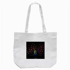Beautiful Peacock Feather Tote Bag (white) by BangZart