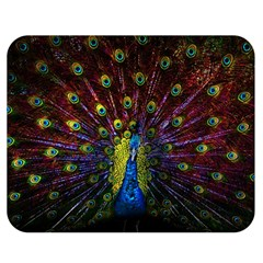 Beautiful Peacock Feather Double Sided Flano Blanket (medium)  by BangZart