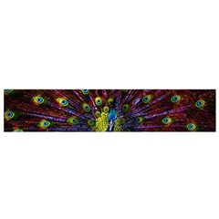 Beautiful Peacock Feather Flano Scarf (small) by BangZart