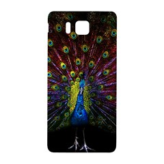 Beautiful Peacock Feather Samsung Galaxy Alpha Hardshell Back Case by BangZart