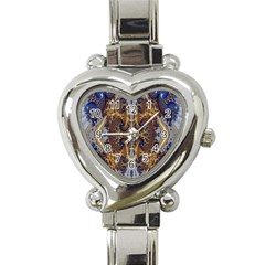 Baroque Fractal Pattern Heart Italian Charm Watch