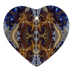 Baroque Fractal Pattern Heart Ornament (two Sides)