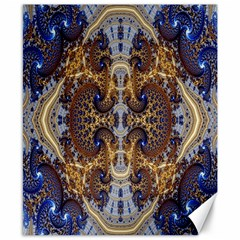 Baroque Fractal Pattern Canvas 8  X 10  by BangZart
