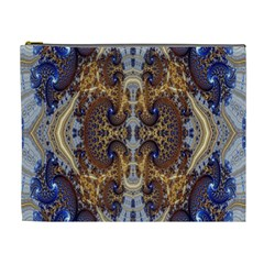 Baroque Fractal Pattern Cosmetic Bag (xl)