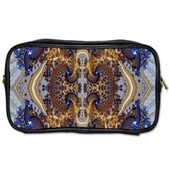 Baroque Fractal Pattern Toiletries Bags by BangZart