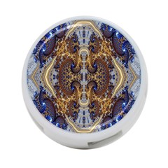 Baroque Fractal Pattern 4 Port Usb Hub (two Sides)