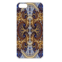 Baroque Fractal Pattern Apple Iphone 5 Seamless Case (white) by BangZart