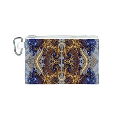 Baroque Fractal Pattern Canvas Cosmetic Bag (s) by BangZart