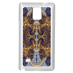 Baroque Fractal Pattern Samsung Galaxy Note 4 Case (white) by BangZart