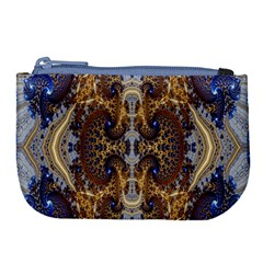 Baroque Fractal Pattern Large Coin Purse by BangZart