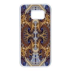 Baroque Fractal Pattern Samsung Galaxy S7 White Seamless Case