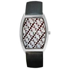 Batik Art Patterns Barrel Style Metal Watch by BangZart