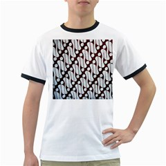 Batik Art Patterns Ringer T Shirts
