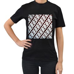 Batik Art Patterns Women s T Shirt (black) (two Sided)