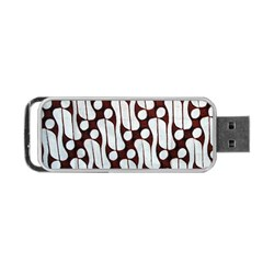 Batik Art Patterns Portable Usb Flash (one Side)