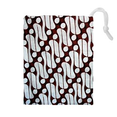 Batik Art Patterns Drawstring Pouches (extra Large)